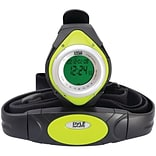 Pyle® Heart Rate Monitor Watch With Minimum; Calorie Counter; and Target Zones; Green