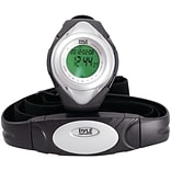 Pyle® Heart Rate Monitor Watch With Minimum; Calorie Counter; and Target Zones; Silver
