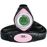 Pyle® Heart Rate Monitor Watch With Minimum; Calorie Counter; and Target Zones; Pink