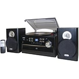 Jensen® JTA-475 3 Speed Turntable W/ CD; Cassette & AM/FM Stereo Radio; 33 1/3 RPM/45 RPM/78 RPM