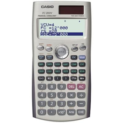 Casio(r) FC 200V 12 Digit Display Financial Calculator