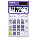 Casio® SL300VC 8-Digit Display Solar Wallet Calculator, Purple