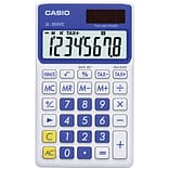Casio® SL300VC 8-Digit Display Solar Wallet Calculator, Blue