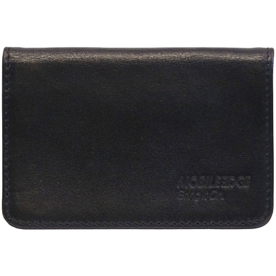 Mobile Edge Leather I.D. Sentry Credit Card Wallet; Black