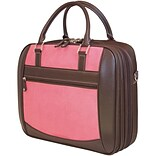 Mobile Edge MacBook® ScanFast™ 16 Briefcase, Pink Suede