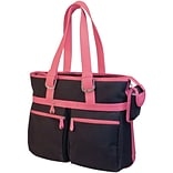 Mobile Edge MacBook® 16 Eco-Friendly Notebook Tote; Black/Pink