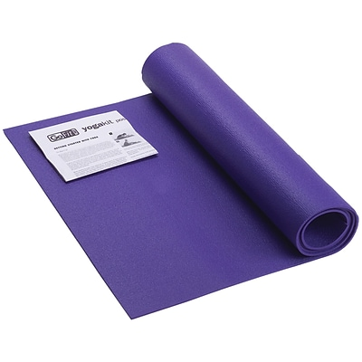 Gofit GF Yoga Mat with Yoga Position Poster; Blue
