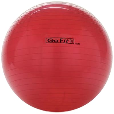 Gofit GF-55BALL Exercise Ball With Pump; Red