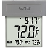 La Crosse Technology Digital Solar Window Thermometer with Night Light (306-605)