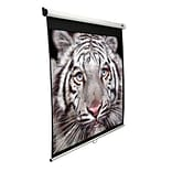 Elite Screens® Manual Series 120 Projection Screen; 16:9; White Casing