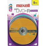 Maxell 4.7GB DVD+R; Blister; 5/Pack
