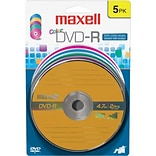 Maxell 4.7GB 16X DVD-R; Blister; 5/Pack
