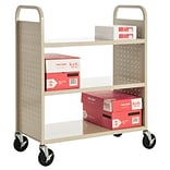 Sandusky® 46H x 39W x 19D Steel Flat Book Truck, 3 Shelf, Putty