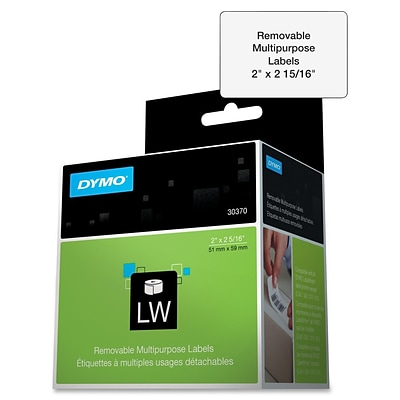 DYMO LabelWriter MultiPurpose DYM30370 Printer Label, 2-1/5W, Black on White