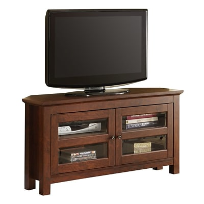 Walker Edison Cordoba 44 MDF Corner TV Console, Brown