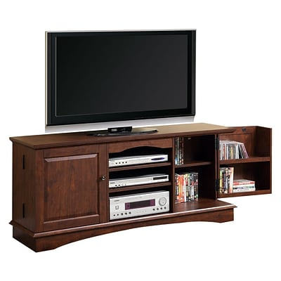 Walker Edison 60 Wood Storage TV Console, Traditional Brown