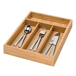 Honey Can Do® Bamboo 4Compartment Cutlery Tray, 14(L)