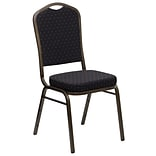 Crown-Back Stack Banquet Chair Blk Fabric 2