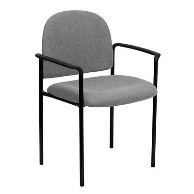 Flash Furniture Fabric Stackable Steel Side Chairs W/Arms