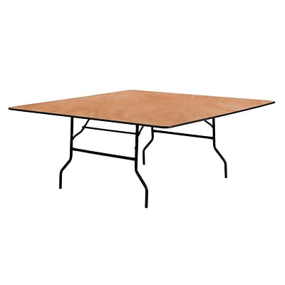 Flash Furniture 72 Square Wood Folding Banquet Table, Black/Natural