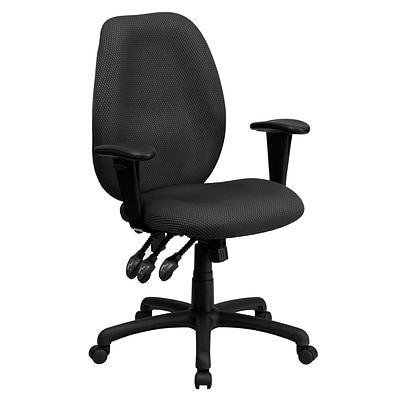 Flash Furniture High Back Fabric Multi-Functional Ergonomic Task Chairs With Arms