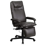 Flash Furniture High-Back Leather Executive Office Chair with Adjustable Arms, Brown