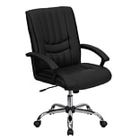 Flash Furniture Mid-Back Leather Managers Chairs