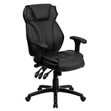 Flash Furniture High-Back LeatherSoft Executive Chair, Adjustable Arms, Black (BT9835H)