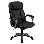 Flash Furniture High-Back LeatherSoft Executive Chair, Fixed Arms, Black (BT9875H)