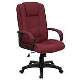 Flash Furniture High Back Fabric Executive Office Chair With Padded Nylon Arms, Burgundy