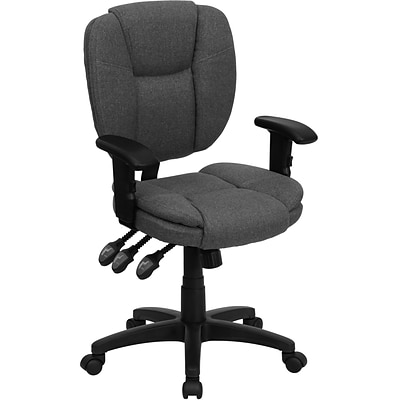 Flash Furniture Fabric Multi-Functional Ergonomic Task Chairs With Arms