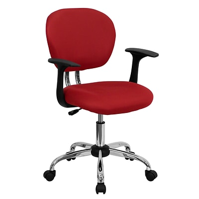 Flash Furniture Mesh Task Chairs With Arms and Chrome Base