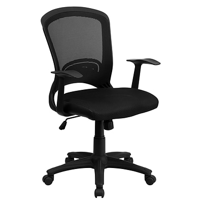 flash furniture mid back mesh office chair black quill com