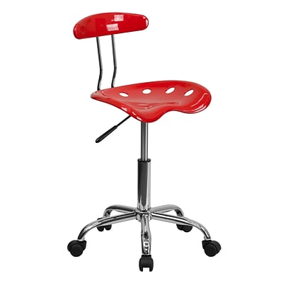 Flash Furniture Polymer Vibrant Computer Task Chairs With Tractor Seat