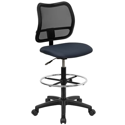 Flash Furniture Mid-Back Mesh Drafting Stools With Fabric Seat