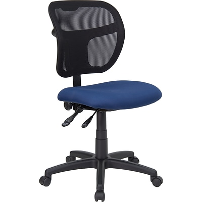 Flash Furniture Mesh Task Chair With Fabric Seat, Navy Blue