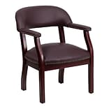 Flash Furniture 31 1/4(H) Leather Conference Chair, Burgundy