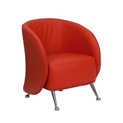 Flash Furniture HERCULES Jet Leather Reception Chairs