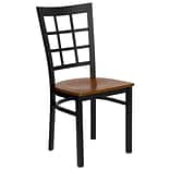 Blk Window Back Restaurant Chair Chry Seat