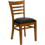Ladder Backen Restaurant Chair Blk Seat Chr
