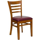 Ladderback Restaurant Chair Chry Fin w/Brgd