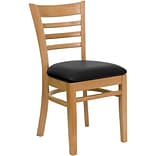 Ladder-Backen Restaurant Chair Nat Fin w/Bl