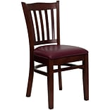 Wooden Vertical Slat Back Restaurant Chair