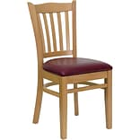Vertical-Slat-Back Restaurant Chair Nat Fin