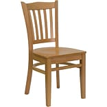 Vertical Slat Backen Restaurant Chair Nat W