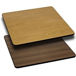 Flash Furniture 36 Square Table Top With Reversible Laminate Top, Natural/Walnut