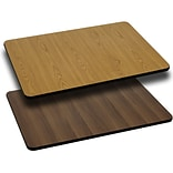 Flash Furniture 24 Rectangular Table Top With Reversible Laminate Top, Natural/Walnut