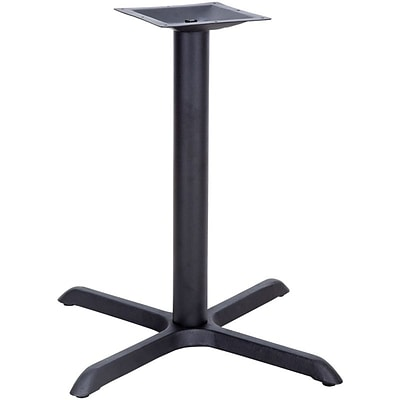 Flash Furniture 33 x 33 Restaurant Table X-Base With 4 Dia. Table Height Column, Black