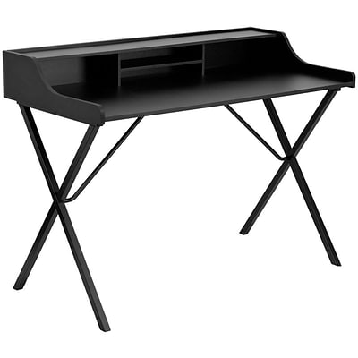 Flash Furniture Computer Desk With Top Shelf; Black