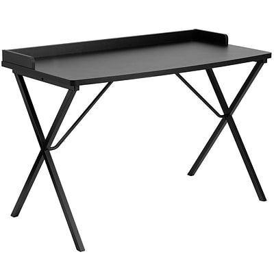 Flash Furniture Computer Desks; Black Table w/ Black Frame (NAN2140BK)